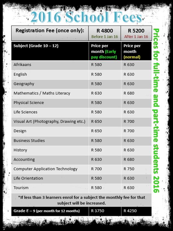 2016 School Fees