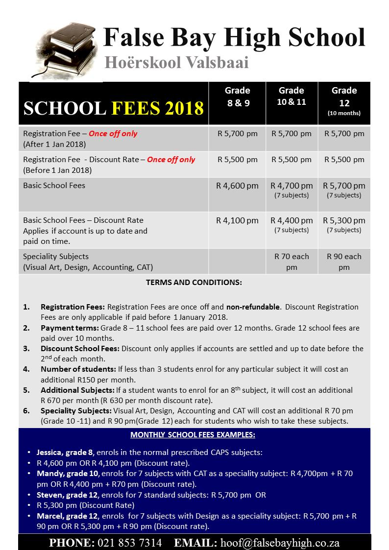 FBH School Fees 2018